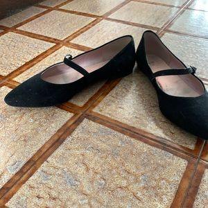H&M faux suede Mary Jane flat shoes sz 39